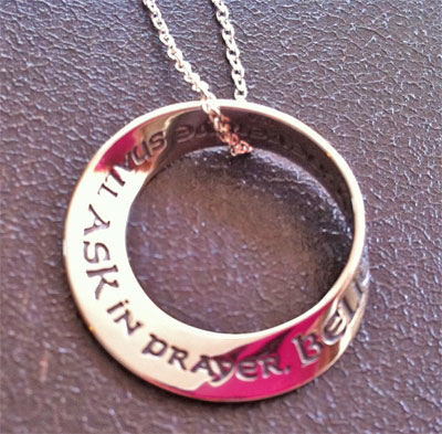 Matthew 21:22 Mobius Necklace ... ask and ye shall receive LARGE