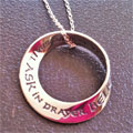 Matthew 21:22 Mobius Necklace ... ask and ye shall receive THUMBNAIL