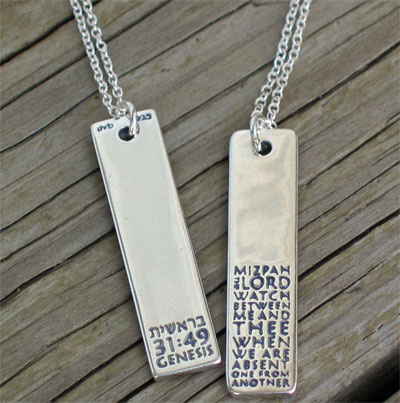 Mizpah sterling silver necklace christiangiftsplace online store mizpah sterling silver necklace view enlarged image aloadofball Image collections