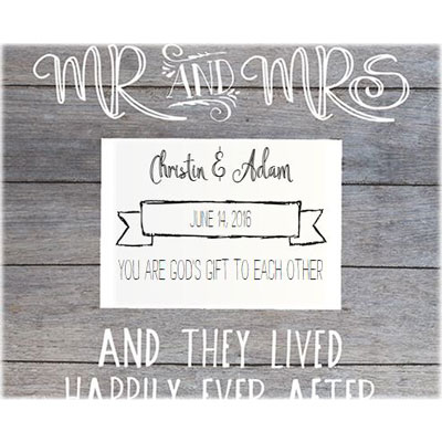 Personalized Slat Frame - Mr & Mrs LARGE