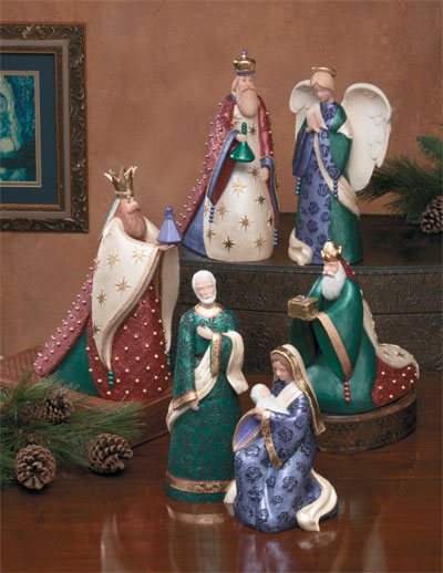 Amazing Ceramic Nativity - 3 Kings LARGE