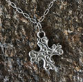 Pewter Cross Pendant by Cynthia Webb THUMBNAIL