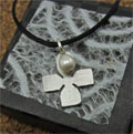 Purity Cross Necklace with Pearl THUMBNAIL
