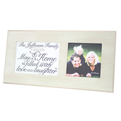 Personalized Photo Frame for 1 Photo - Wicker LARGE