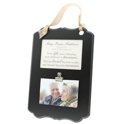 Personalized Clip It Photo Plaque - Black LARGE
