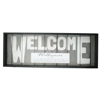 Weathered WELCOME Sign - Personalized LARGE