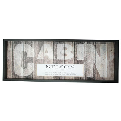 Weathered CABIN Sign - Personalized LARGE