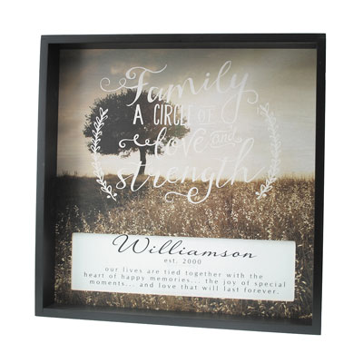 Personalized Shadow Box - Family is a Circle of Love