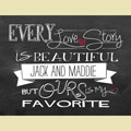 Light Box Personalized Insert - Every Love Story