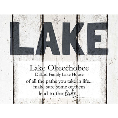 Light Box Personalized Insert - Weathered Lake
