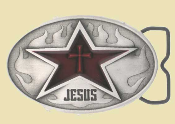Red Cross Belt Buckle LARGE