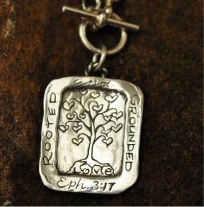 Rooted and Grounded in Love… Sterling Silver Necklace