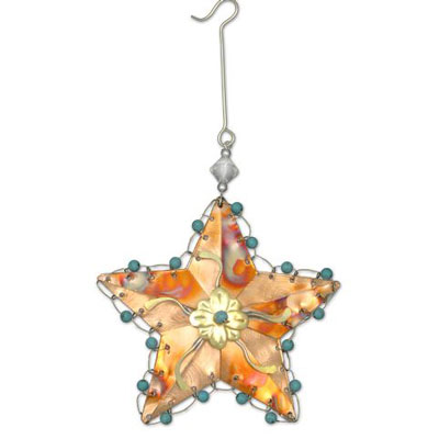 Rustic Star Christmas Ornament