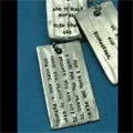 Custom Scripture Dog Tag
