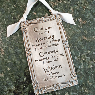 """Serenity Prayer"" Pewter Wall Ornament by Cynthia Webb LARGE"