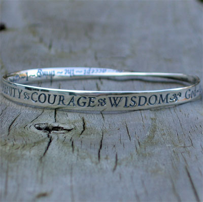 Serenity Prayer Mobius Bracelet View Enlarged Image