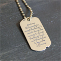 Serenity Prayer Dog Tag by dvbny SWATCH