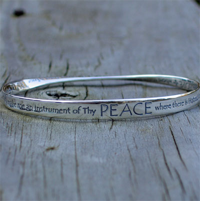 St Francis Prayer Mobius Bracelet LARGE