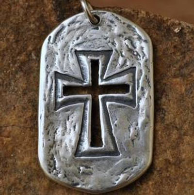 My Strong Tower… Sterling Silver Christian Necklace for Men