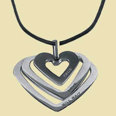 True Love Will Wait Heart Necklace