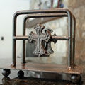 Wrought Iron Up Right Napkin Holder with Cross_THUMBNAIL