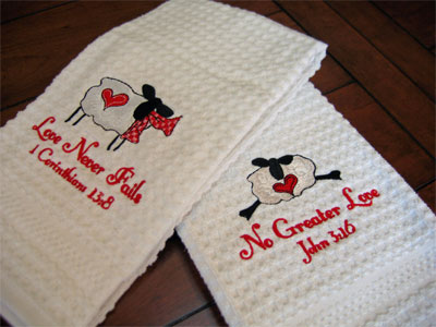 Valentine Towel Set LARGE