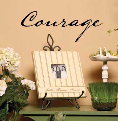Courage Vinyl Wall Scripture