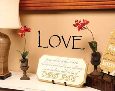 Love Vinyl Wall Scripture LARGE