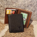 Men's Deluxe Trifold Wallet - Saddle Brown THUMBNAIL