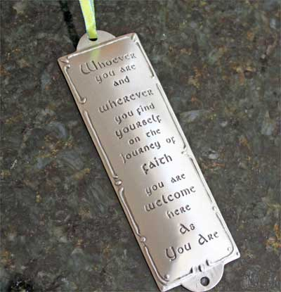 Pewter Room Blessing Plaques by Cynthia Webb - Whoever You Are