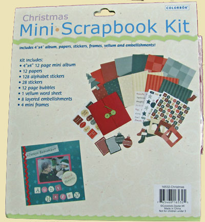 Christmas Mini Scrapbook LARGE