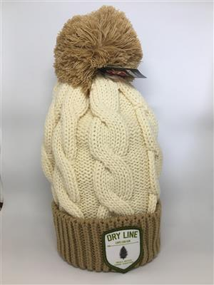 Dry Line Gin Winter Hat - Tan and White LARGE