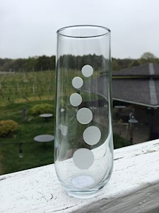 Stemless Champagne Flutes LARGE