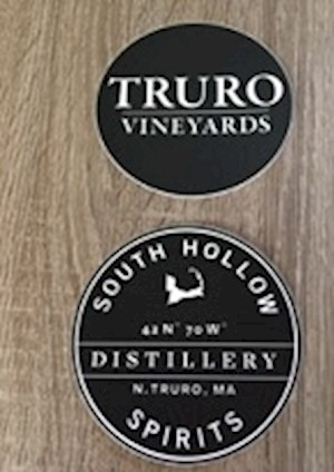 Truro Vineyards & South Hollow Spirits Stickers LARGE