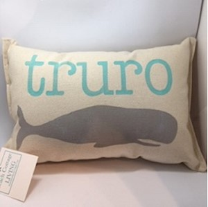 Truro Whale Pillow LARGE