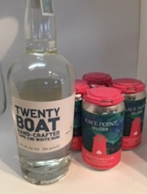Twenty Boat White Rum & Race Point Hemp Infused Seltzer, PICK UP ONLY LARGE