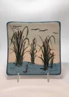 Cattail Design- Jobi Pottery LARGE