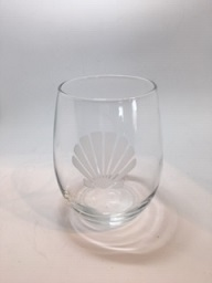 Nautical Etched Stemless Wine Glasses SWATCH