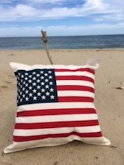 American Flag Pillow THUMBNAIL