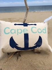 Cape Cod Anchor Pillow THUMBNAIL
