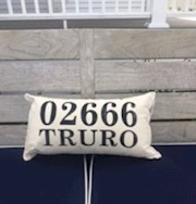 Truro& N. Truro Zip Code Pillow THUMBNAIL