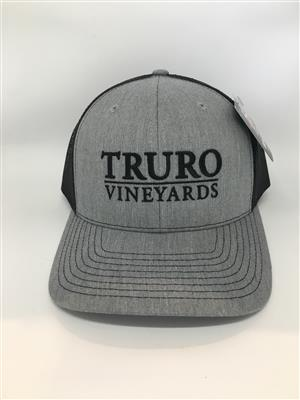 Truro Vineyards Hat - Grey and Black LARGE