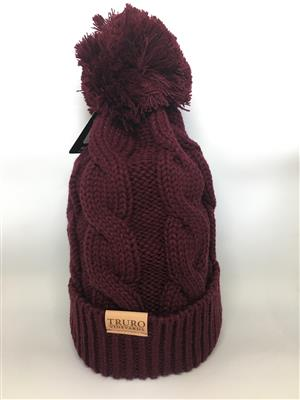 Truro Vineyards Winter Hat - Maroon LARGE