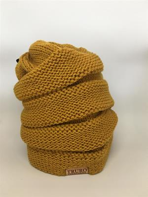 TV Winter Hat- Yellow Beehive LARGE