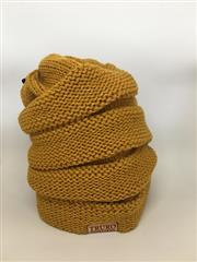 TV Winter Hat- Yellow Beehive THUMBNAIL