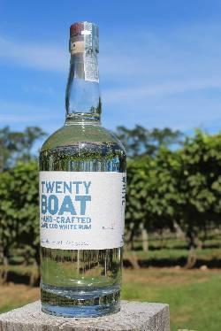 NEW! Twenty Boat White Rum (750ml)