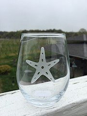 Nautical Etched Stemless Wine Glasses THUMBNAIL