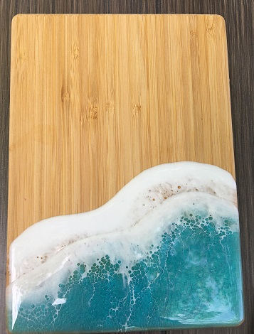 Small Wave Design Resin Cheese Boards SWATCH