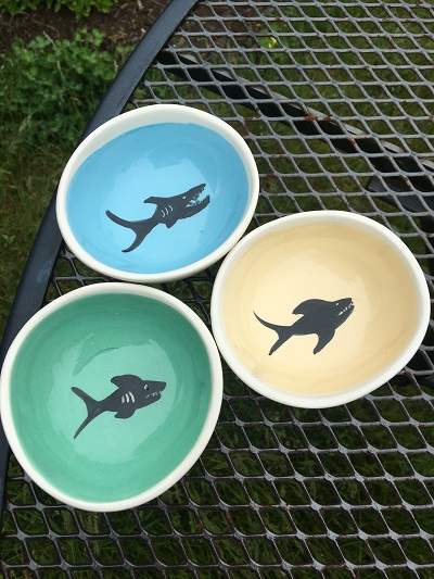 Shark Design- Jobi Pottery LARGE