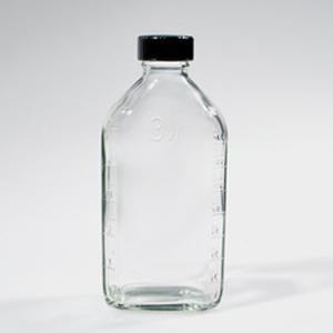 6oz glass flint prescription bottle with black phenolic cap. 48/case [50-11203]